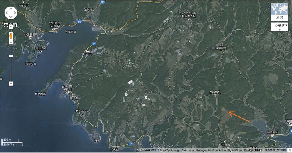 Google マップ - 穴水町